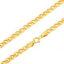 Řetízek ze žlutého 14K zlata - elipsovité větší a menší očko, 495 mm