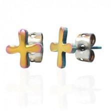 Barevné náušnice z oceli TABONO symbol