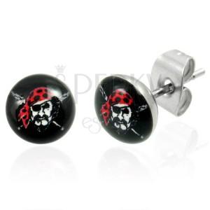 Ocelové náušnice - Pirát
