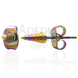 Náušnice z oceli - anodizované špičky