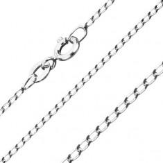Řetízek  ze stříbra 925, hladká oválná očka, 1,3 mm