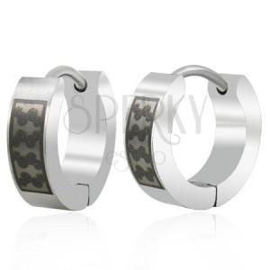 Ocelové náušnice kroužky s černými esíčky