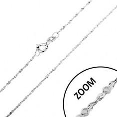 Řetízek ze stříbra 925 - zatočená linie, spirálovitě pospojovaná očka, 1,2 mm