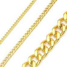 Řetízek z chirurgické oceli řetězový ve zlaté barvě