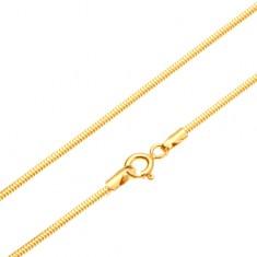 Zlatý řetízek 585 - články uspořádané do vzoru hadí kůže, 450 mm