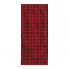 Červený celofánový dárkový sáček s lesklými čtverečky