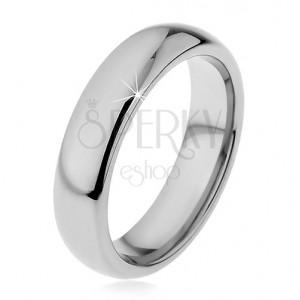 f104bac4d Wolframový prsten v tmavší stříbrné barvě, zaoblený, 5 mm | Šperky Eshop