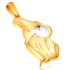 Zlatý přívěsek 585 - znamení zvěrokruhu - VODNÁŘ, dvoubarevné provedení GG195.41