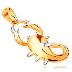 Zlatý 14K přívěsek - znamení zvěrokruhu ŠTÍR, dvoubarevné provedení GG195.38
