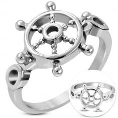 45c020abc Prsten z chirurgické oceli stříbrné barvy ...