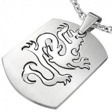 Přívěsek z oceli známka - Dragon