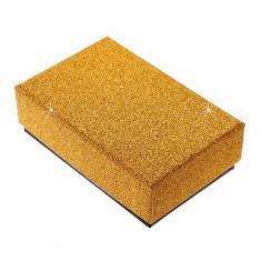 Dárková krabička na set nebo náhrdelník - třpytivý povrch zlaté barvy