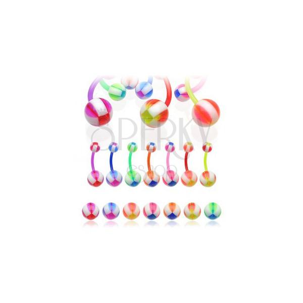Piercing do pupíku Multicolor Balla