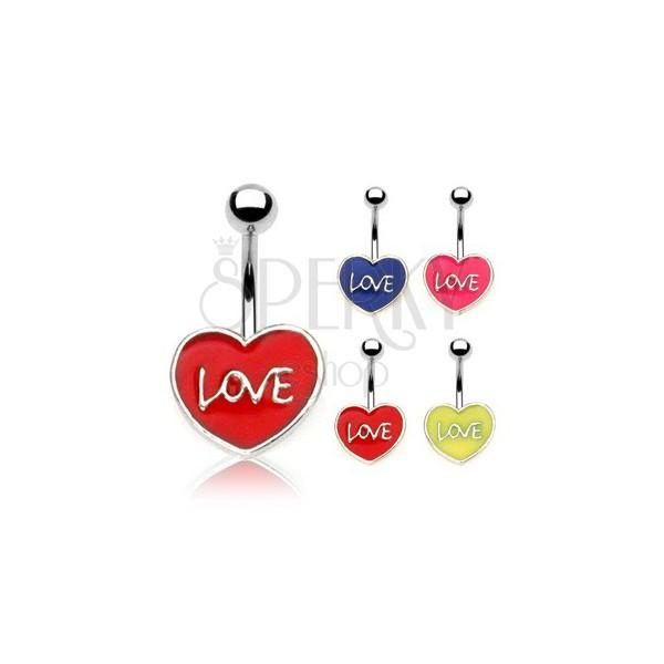 Piercing do pupíku LOVE