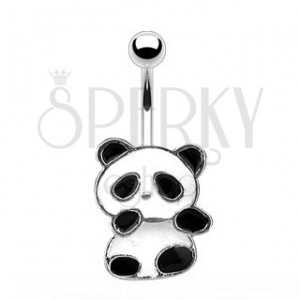 Piercing do pupíku - panda