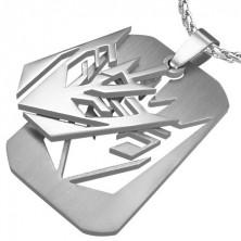 Přívěsek ocelová známka Transformers