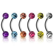 Piercing do obočí - tygrovaný vzor