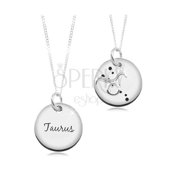 02892c494 Stříbrný 925 náhrdelník, řetízek a kruhový přívěsek - BÝK   Šperky Eshop