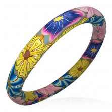 Náramek Fimo barvy květů Hippies