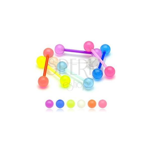 Piercing do jazyka barevná kulička