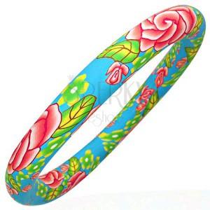 Fimo náramek s motivem pastelových barev
