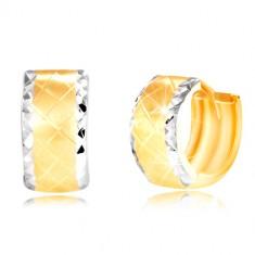 Náušnice ze 14K zlata - kroužek s broušenými okraji z bílého zlata GG217.49