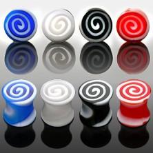 Plug do ucha - barevné spirály