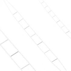 Náhrdelník ze stříbra 925, dva řetízky spojené rovnými tyčinkami