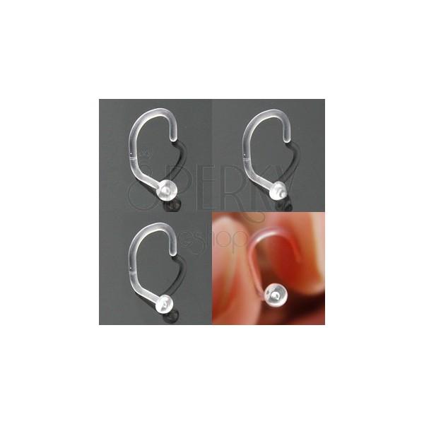 Piercing do nosu BioFlex - různé hlavičky