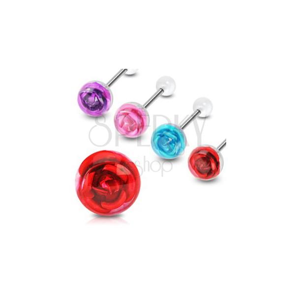 Piercing do jazyka růže