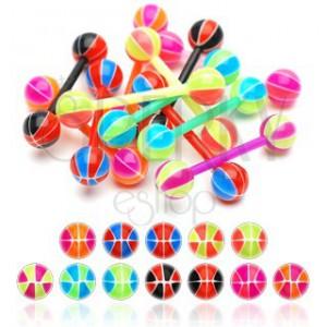 Piercing do jazyka basketbalový míč