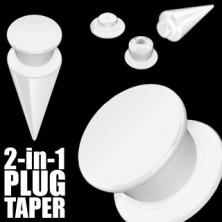 Taper a plug 2 v 1 bílý