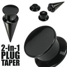 Taper a plug 2 v 1 černý