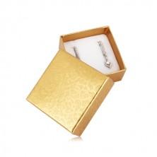 Dárková krabička na dva prsteny nebo náušnice - popínavá rostlina, zlatá barva