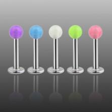 Labret - průsvitná barevná kulička