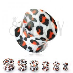 Plug do ucha bílý, vzor leopard