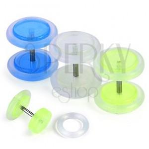 Fake plug - fosforeskující, různé barvy