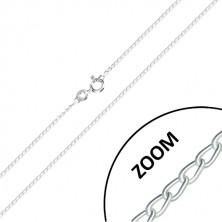 Stříbrný 925 řetízek - jemně zatočená očka, sériové napojování, 1,2 mm