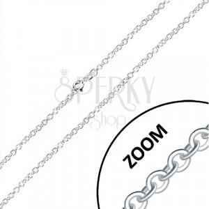 Řetízek ze stříbra 925 - kolmo napojovaná kulatá očka, 2,6 mm
