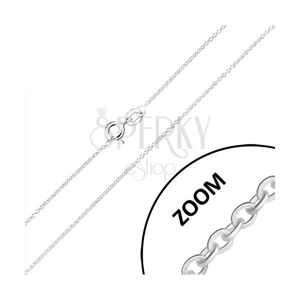 Řetízek ze stříbra 925 - drobná kulatá očka, kolmé napojování, 0,9 mm