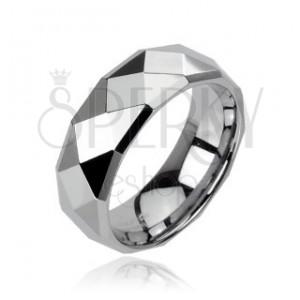 Wolframový prsten s motivem disco