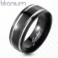 Titanový prsten, dva pruhy