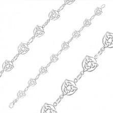 Náramek ze stříbra 925 - keltské uzly se třemi cípy v kruhu, jednoduchá očka