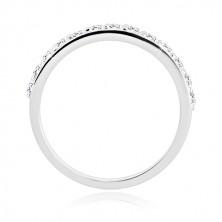 Sada stříbrných prstenů - kroužek se zářivou polovinou, prsten se zirkonem