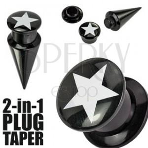 Plug a taper černý  STAR