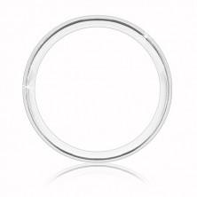 Stříbrný prsten 925 - dva matné zářezy a jeden lesklý proužek uprostřed, 5 mm