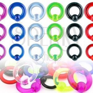Piercing UV kroužek s kuličkou