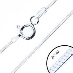Tenký čtyřhranný řetízek, stříbro 925, šířka 0,6 mm, délka 500 mm