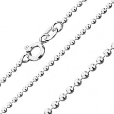 Řetízek ze stříbra 925, armádní kuličky, šířka 1,5 mm, délka 550 mm