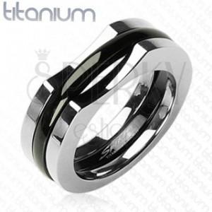 Pánský titanový prsten - třísložkový